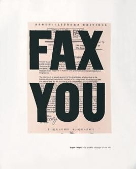 Fax You: Urgent Images, the Graphic Language of the Fax